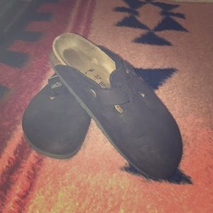 Birkenstocks suede 37 soft footbed black